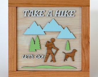 Take A Hike, Wooden Sign