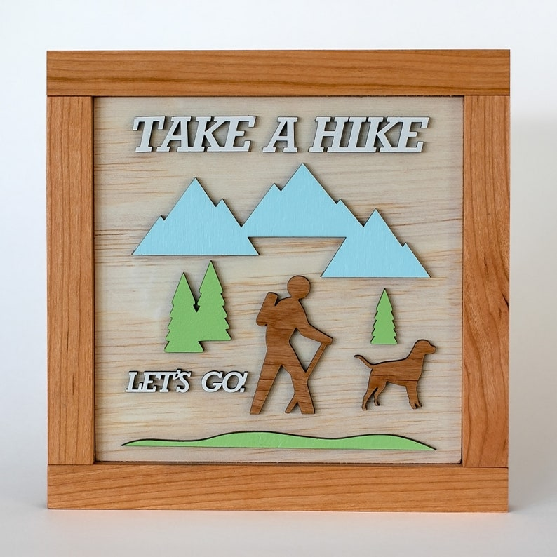 Take A Hike Wooden Sign image 0