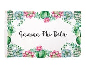 Gamma Phi Beta Succulent Sorority Flag Greek Letter Use as a Banner Large 3 x 5 Feet Sign Decor