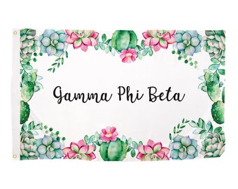 0f47fcc9037 Gamma Phi Beta Succulent Sorority Flag Greek Letter Use as a Banner Large 3  x 5 Feet Sign Decor