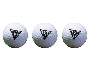 Tau Kappa Epsilon Color Printed Unique Golf Balls (Set of 3) Licensed  Product TKE d14e6c229c5