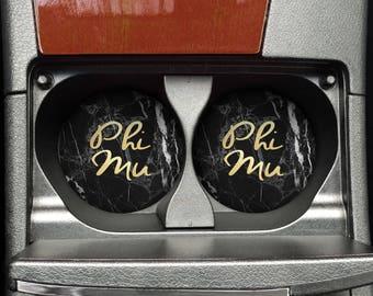 Phi Mu Car Coaster Set