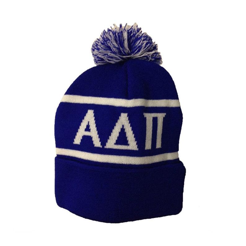 b8b3fd80cca Alpha Delta Pi Sorority Knit Beanie Pom Winter Hat ADPi