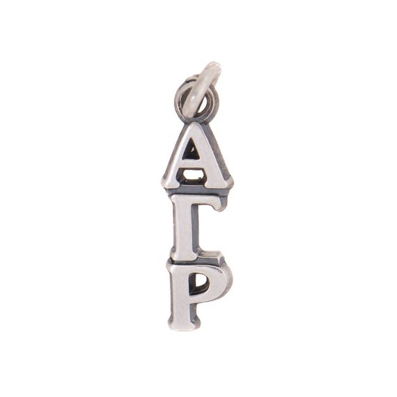 With Chain AGR Alpha Gamma Rho AGR Fraternity Lavalier Sterling Silver