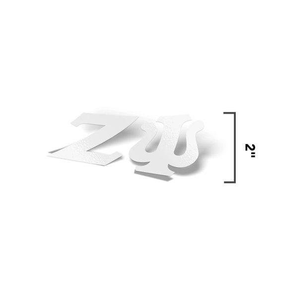 Zeta Psi USA Letter Sticker Outside Car//Computer C