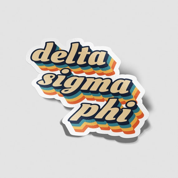Delta Sigma Pi 70/'s Decal Sticker Outside Car//Computer
