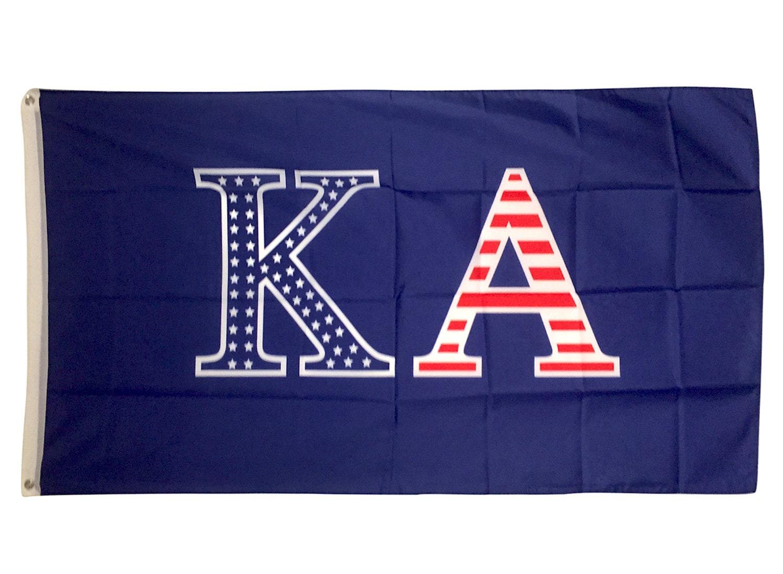 Sigma Kappa Dark Purple//Light Purple Letter Flag 3/' x 5/'