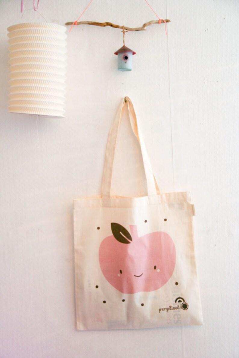 dfbfdec2f Organic Tote Bag Organic cotton Cute Apple   Polka Dots