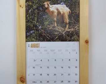 Knotty Pine calendar frame