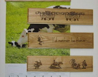 Laser engraved Calendar Clamps. Reflect your interest with these customized clamps.