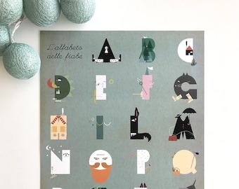 fairy tale alphabet, poster