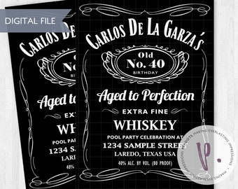 Over the Hill / Jack Daniels Inspired / Whiskey Invitation