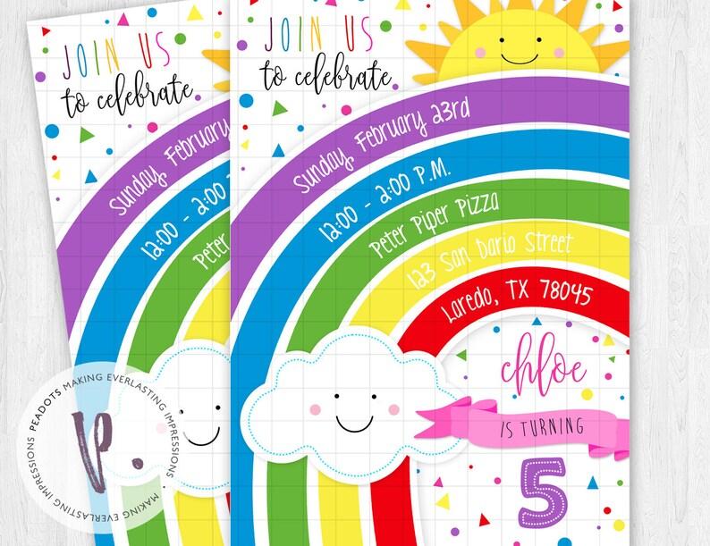 Rainbow Invitations / Colorful / True Rainbow image 0