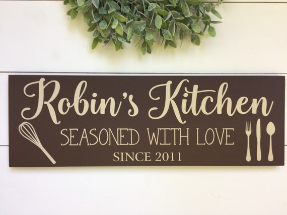 Personalized Kitchen Signs Kitchen Decor Kitchen Signs Gift For Her Gift For Wife Mother In Law Gift Gift For Women Wooden Signs