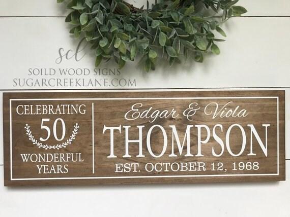 50th Wedding Anniversary Gifts Golden Anniversary 50th Etsy