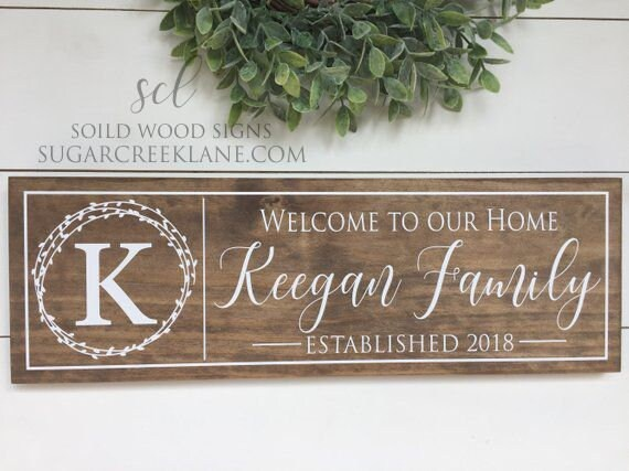 Vintage Custom Road Sign New House warming gift Personalised Family Name plaque