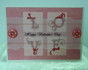 LOVE Happy Valentine's Day Greeting Card