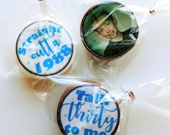 Personalized Birthday favors / 30th Birthday Party / 30th Birthday Favors / Chocolate Covered Oreos / 30th Birthday / talk 30 to me / sweets