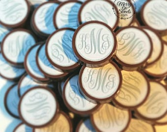 Wedding Favors / Chocolate Covered Oreos / Monogram Favors / edible bridal shower favors / monogram favors / edible wedding favors / oreos