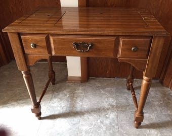 Vintage Stylist Sewing Machine Wood Cabinet Table   PICK UP ONLY