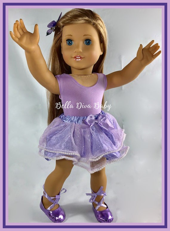 """Light Pink Sparkly Dot Basic Tutu 18/"""" Doll Clothes Fits American girl dolls"""