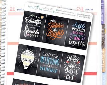 Chalkboard Full Box Stickers | Quote Stickers for ECLP / Planner Full Box Decorative Stickers for Erin Condren/ Pretty Full Box Stickers