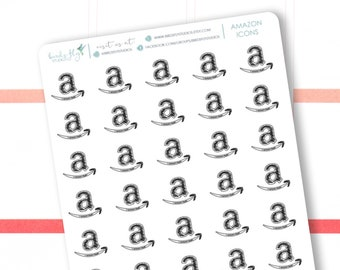 Amazon Delivery Stickers / Online Shopping Stickers / Amazon Stickers / Delivery Stickers, Shopping Planner