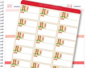 Planner Stickers Christmas Elf for Erin Condren Vertical or Horizontal / Xmas Shelf Planner Stickers / Elf Stickers for planners & calendars