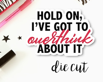 Cardstock Die Cut Quote Snarky Funny | Single Cardstock Die Cut for Planners, Journals, Scrapbooking, TNs / Foxy Fix, Traveler's Notebook