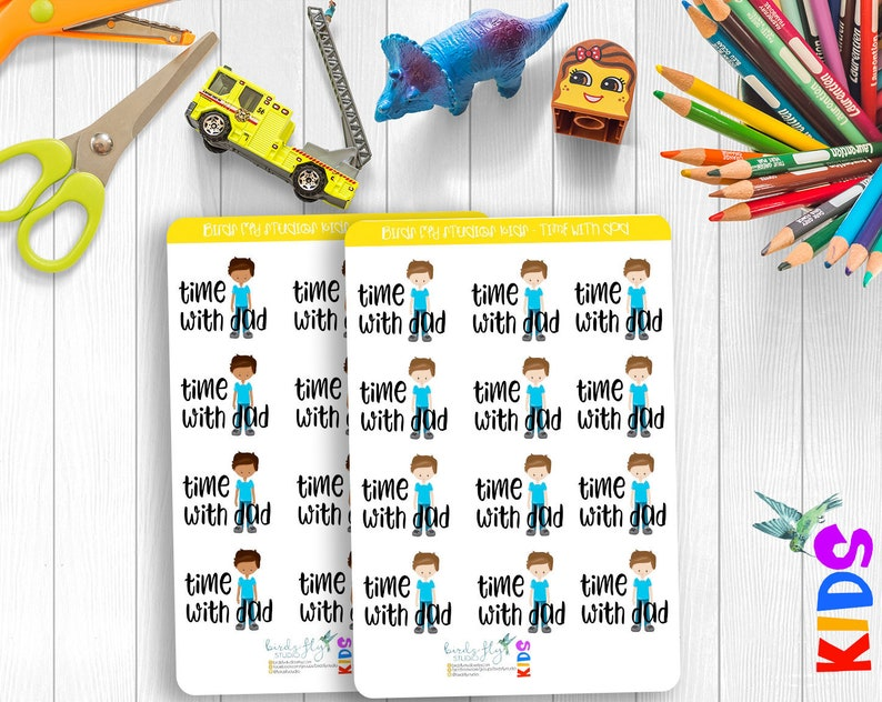 KIDS Collection  Time with Dad Stickers / Happy Planner Kids image 0