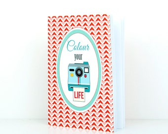 Mini  notebook A6 - Colour your Life- DC