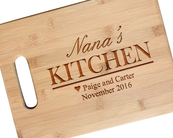 SHIPS FAST, Christmas Gift Cutting Board for Mom, Grandma, Nana, Mother's Day Gift, Mothers Day Gift Engraved Cutting Boards, JS20