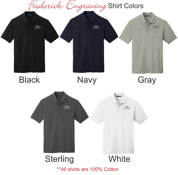 Personalized Polo Shirt Design Your Own Custom Initial Etsy