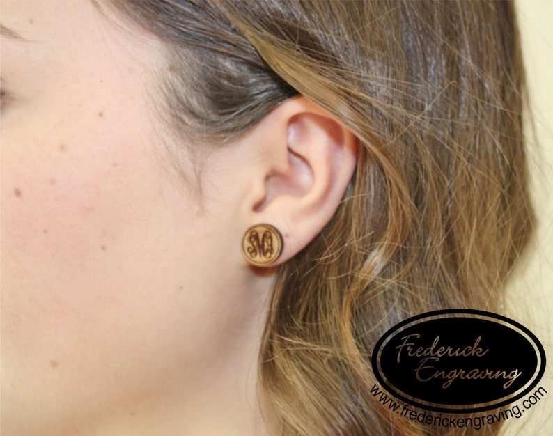 Personalized Name Earrings EA-10 Two Tone Name Stud Earrings Custom Name Earrings