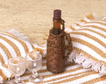 Miniature Wickerbottle for Your Dollhouse