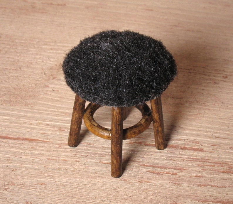Miniature Fur Stool for Your Dollhouse image 0