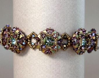 Half Tila Bracelet - Art Deco Bracelet Tutorial - Half Tila Pattern - Digital Download - PDF