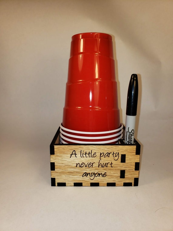Solo Cup And Marker Holder Etsy