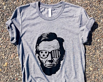 6d0dabaa Abe Lincoln, Drinking Like Lincoln Tshirt, 'Merica Shirt, American,  Patriotic, Graphic Tee, July 4th, Fourth of July, Abraham Lincoln Shirt