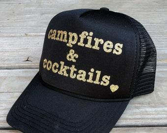 f5ec231431f Glitter Snapback Trucker Hat