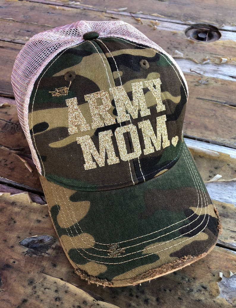 323b31aef ARMY MOM Distressed Snapback Hat, USA Cap, Military Hat, Army Mom Trucker  Hat, Military Mom, Army Mom Strong