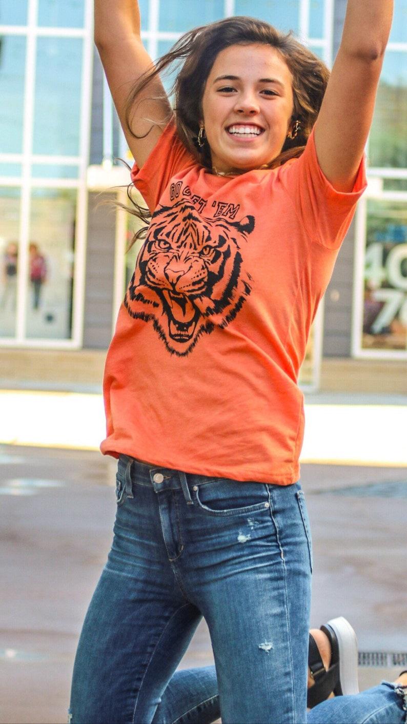 Go Get 'Em Tiger Shirt Go Get 'Em Shirt Funny Tiger image 0