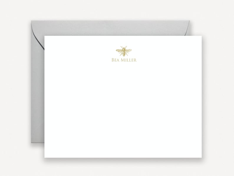 Bee Personalized Stationery for Women Bee Stationery Custom image 0