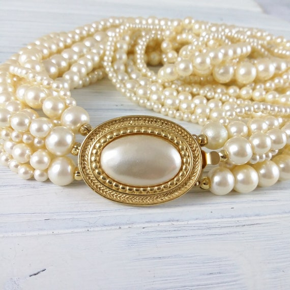 Carolee pearl necklace Wedding pearl necklace Mult