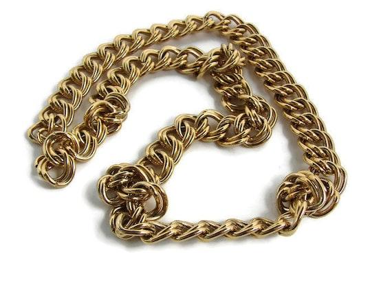Vintage chain necklace Heavy chain necklace Trifar