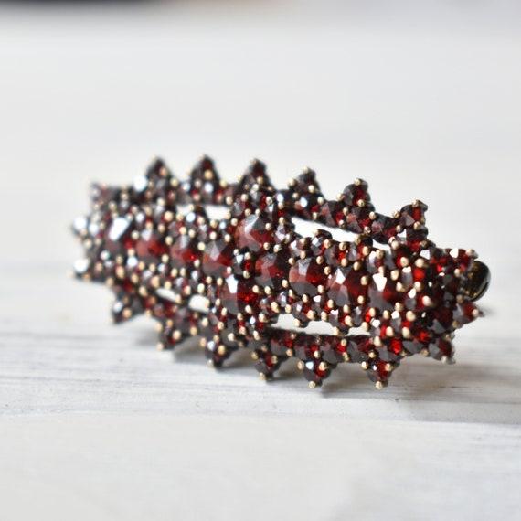 Bohemian garnet brooch Victorian garnet jewelry 90