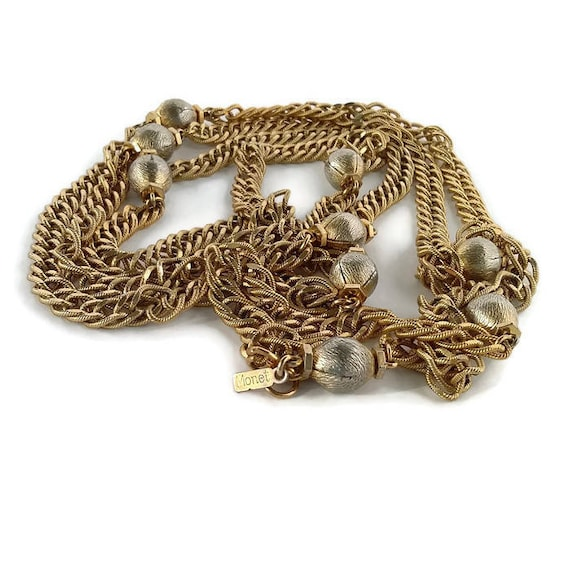 Monet extra long chain necklace Gold flapper neckl