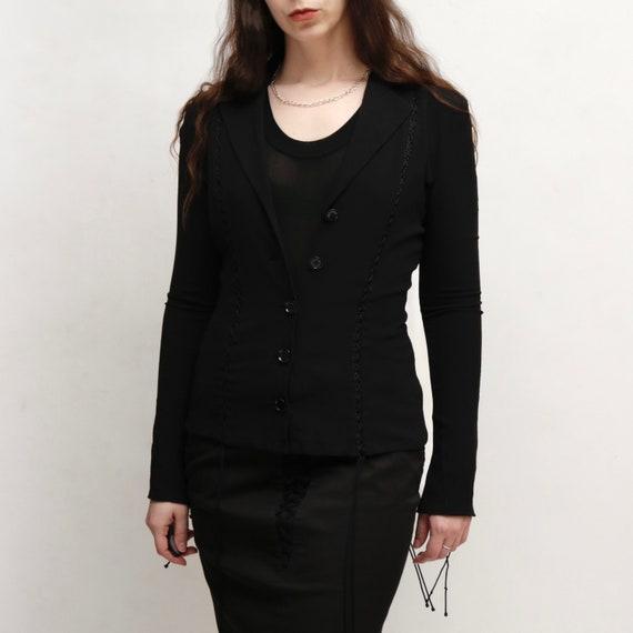 dolce and gabbana silk lace up blazer