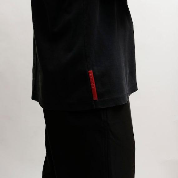 prada 90s red tab long sleeve polo - image 3