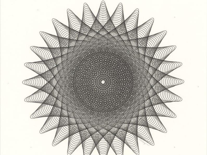 Arte Geometrica Disegno Astratto Arte Originale Bianco E Etsy